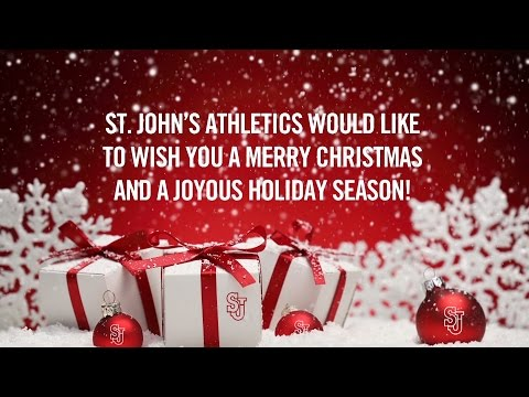Happy Holidays from St. John's Athletics!