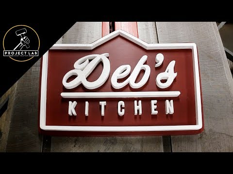 DIY vintage restaurant sign — Deb's Kitchen
