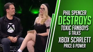 Phil Spencer DESTROYS Toxic Fanboys and Talks Xbox Scarlett Power and Price | Xbox X019 News