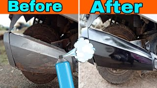 How to paint EXHAUST using spray cans !! Maestro edge | Scooty