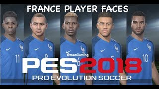 PES 2018 France Player Faces Ratings Online Beta