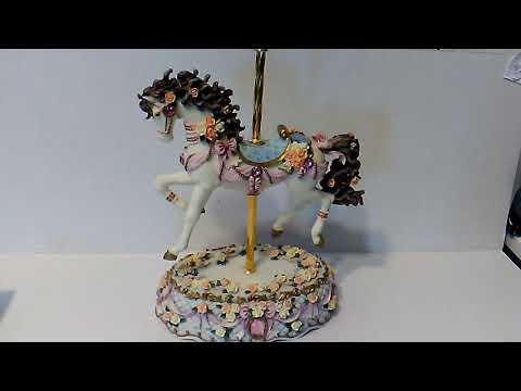 Music Box Carousel Horse Style San Francisco Music Box Company Brand