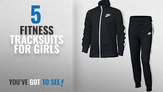Top 10 Fitness Tracksuits For Girls [2018]: Nike Girls' Sportswear Warm-up Track Suit,