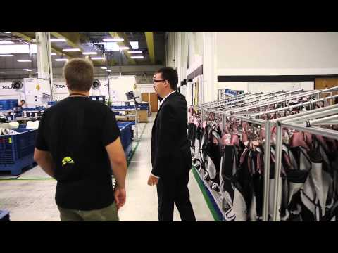 Dillon Van Way tours the RECARO facility to learn about the seats in the 2014 Ford Fiesta ST