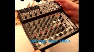 Behringer Xenyx 1202 FX unboxing Test