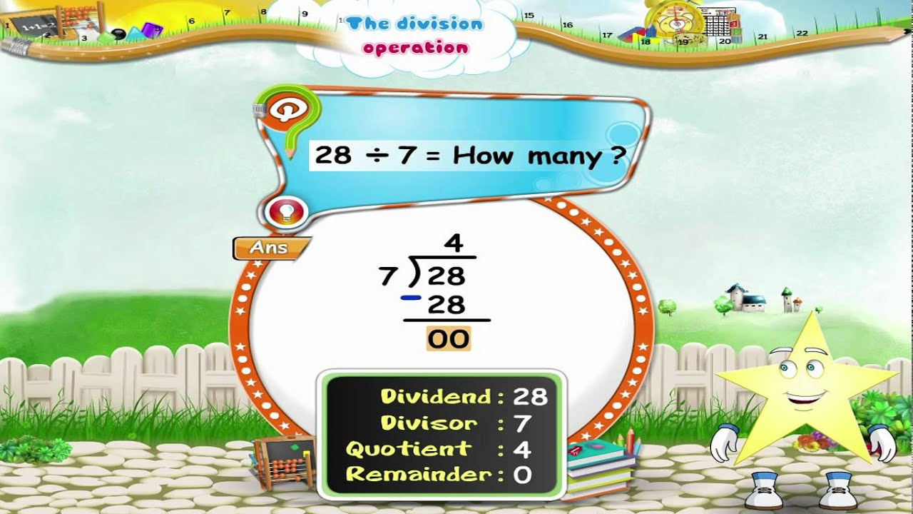 Worksheet Division For Grade 3 learn grade 3 maths the division operation youtube