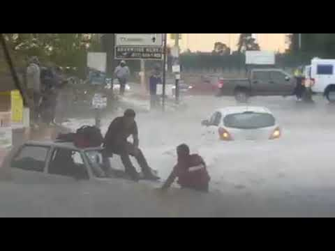 Flooding in Factoria Krugersdorp - Storm, rain, wind & hail Gauteng,south Africa