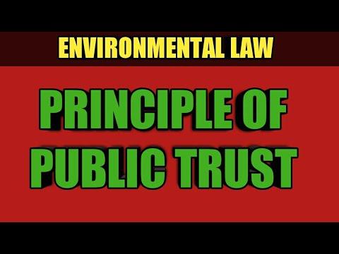 PUBLIC TRUST DOCTRINE   ENVIRONMENTAL LAW   NADEEM HAIDAR