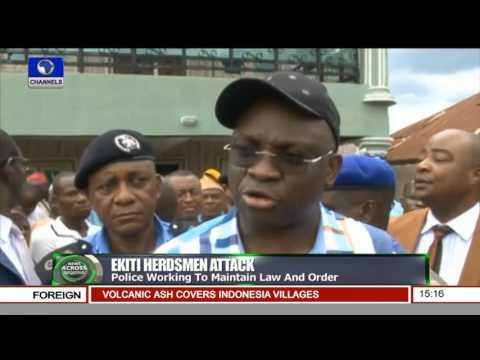 News Across Nigeria: Gov. Fayose Visits Hedsmen Attack Victims In Hospital