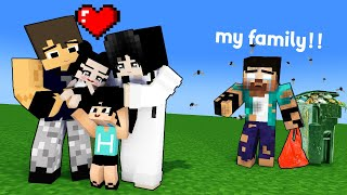 VERY SAD STORY - HEROBRINE FAMILY WAS LOST - MINECRAFT