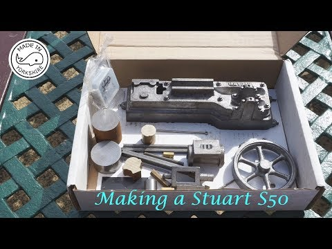 #MT22 Part 1 -  Making A Stuart S50 Engine Soleplate / Bedplate And Bearings. By Andrew Whale.