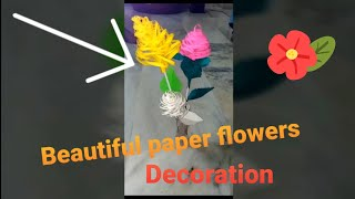 Beautiful Paper flowers for Home Decoration..
