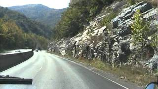 """Driving through """"The Gorge"""" in North Carolina"""
