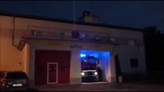 WIECBORK112: OSP Więcbork (GCBA MAN) alarmowo do pożaru prasy rolniczej (06.08.2017r.)