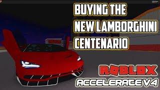 L'achat de la Lamborghini Centenario 'NEW' Accélérer V4 (ROBLOX)