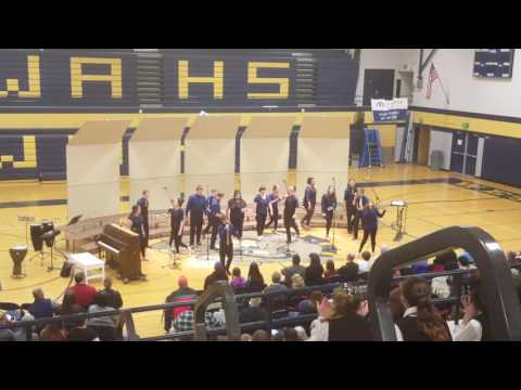 West Albany High School Rythmix singing,  Fall out boy Centuries.
