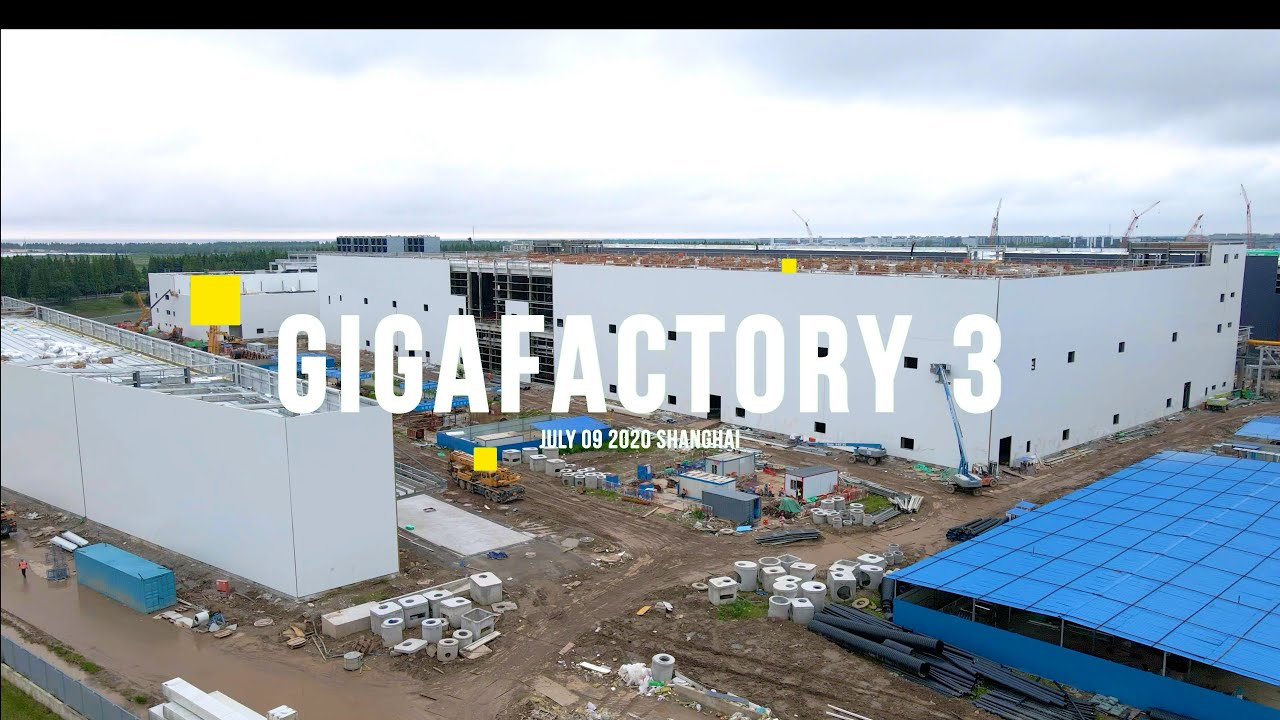 (July 9) Tesla Gigafactory 3 new architectural lighting system has been installed