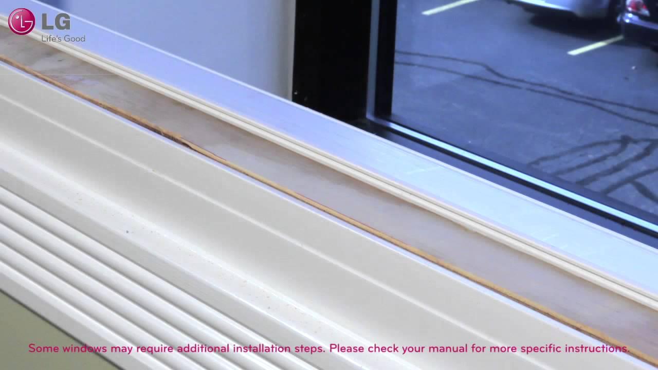 cómo instalar tu Aire Acondicionado de Ventana LG - YouTube