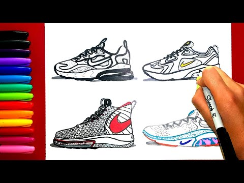 how-to-draw-nike-shoes-(air-max-200,-air-max-270-react,-alphadunk,-joyride-run-flyknit)---igniteart