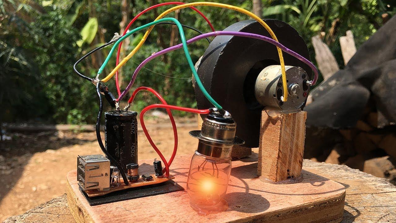 Free Energy Generator Experiment self Running Machine School