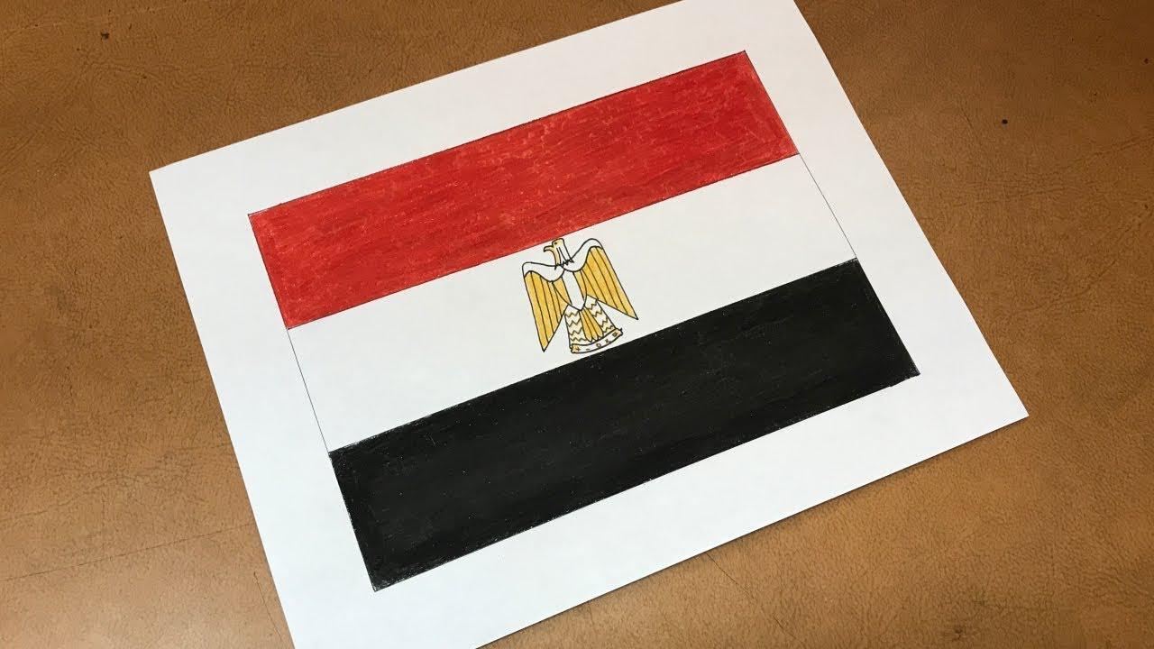 Egyptian Flag Drawing Youtube