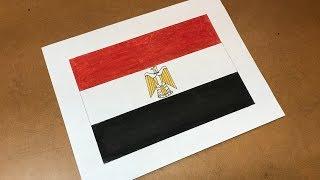 Egyptian Flag Drawing 🇪🇬