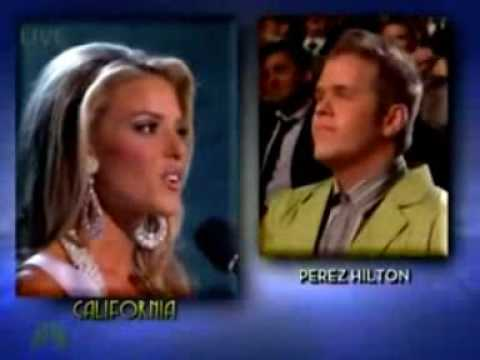 Miss USA California Answers To Gay Marriage Question From Perez Hilton