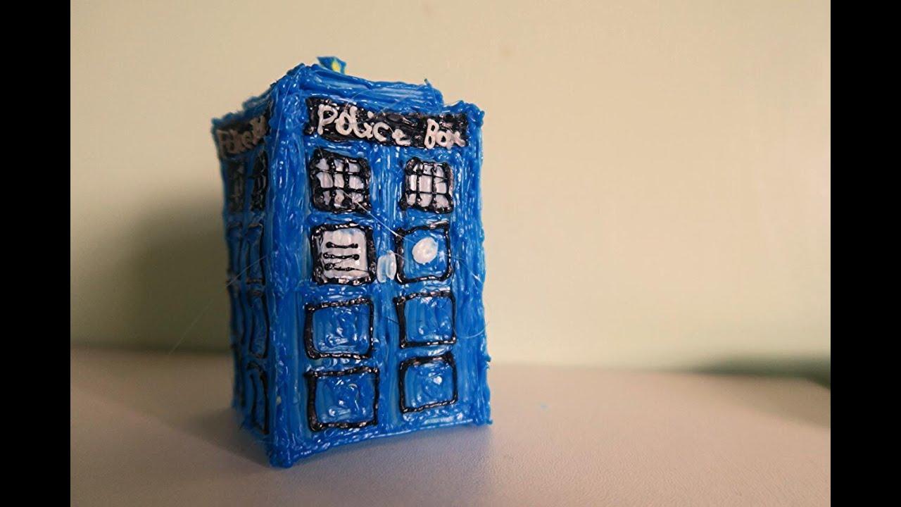 3D Pen Art How To Make A 3D Tardis With A 3D Pen Doctor Who YouTube