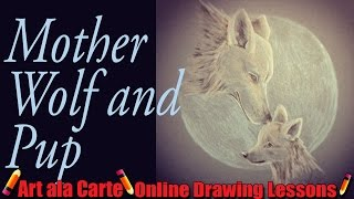 Mom wolf and Pup challenge and tutorial