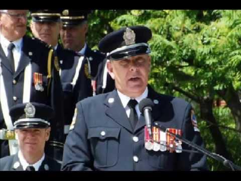 Toronto Fallen Fire Fighters Family Speach David Cranswick