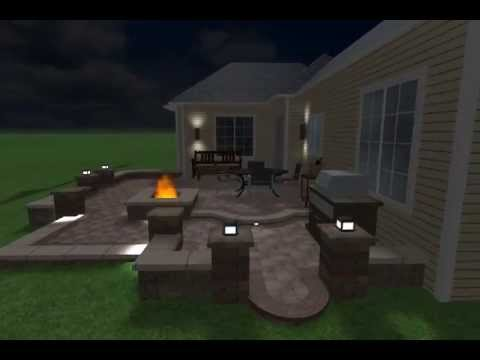 multi level patio design by brick logik llc - Multi Level Patio Designs