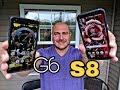 **Diferencias de Tamano y Pantallas - Galaxy S8 & LG G6**