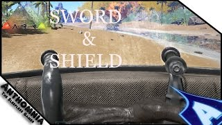 ARK Survival Evolved METAL SHIELD | SWORD | RIOT SHIELD CRAFTING + GAMEPLAY