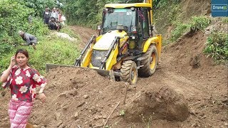 Download JCB Backhoe Loader-Leveling the Hilly Narrow Road-Backhoe Video Mp3 and Videos