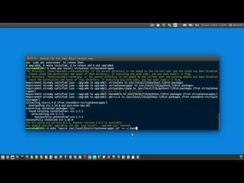 Configure system for django development