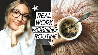 my REAL 9-5 work morning routine | morning routine while working