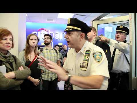 Citibank & NYPD Arrests Occupy Wall Street -- Video from INSIDE -- Original Best Quality