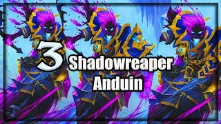 (Hearthstone) 3 Anduin Shadowreaper Battle  ~ Knights of the Frozen Throne Expansion