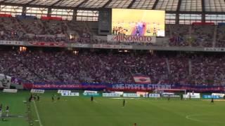vsFC東京戦 試合開始前にFC東京のサポーターソングであるチャントサマー...