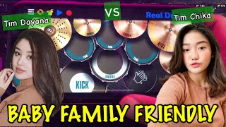 VIRAL DI TIK TOK ! DJ BABY FAMILY FRIENDLY (ANGKLUNG)   REAL DRUM COVER