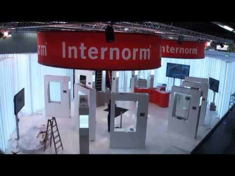 Internorm konzern messestand aufbauarbeiten youtube for Internorm fenster