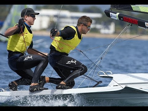 Sailing World Cup Hyères - 49er & 49erFX Medal Race Highlights