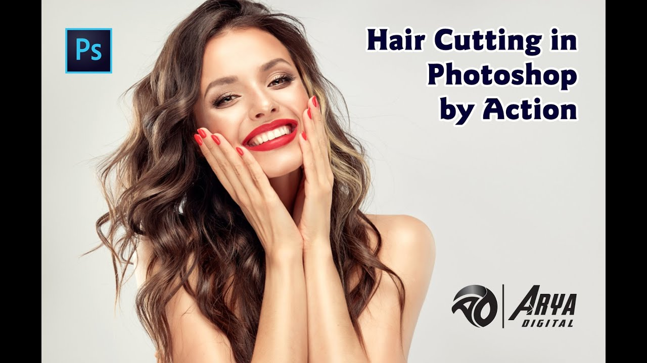 Hair Cutting & Remove Background By Action In Photoshop - YouTube