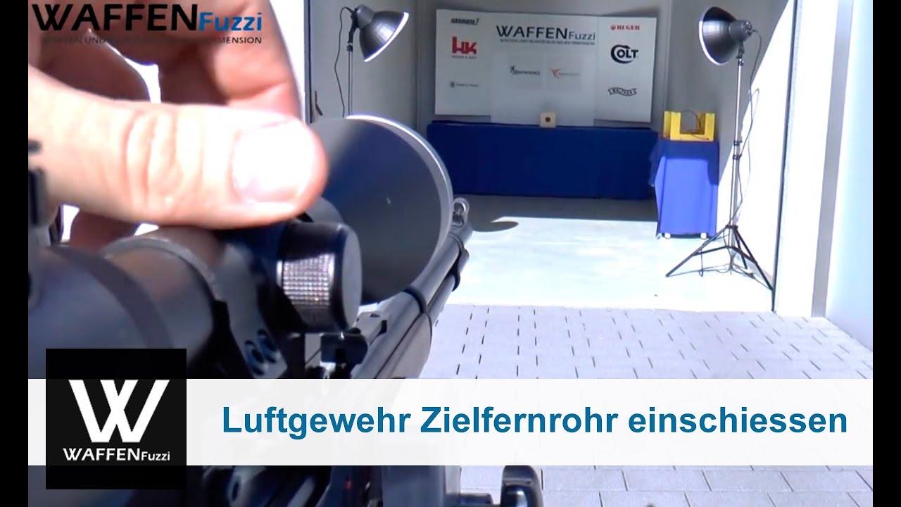 Luftgewehr mit einem zielfernrohr einschiessen 2.teil www