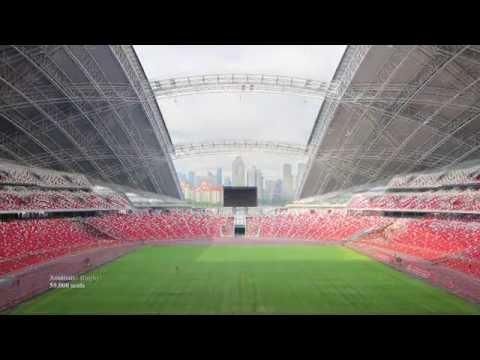 Singapore Sports Hub mode change timelapse