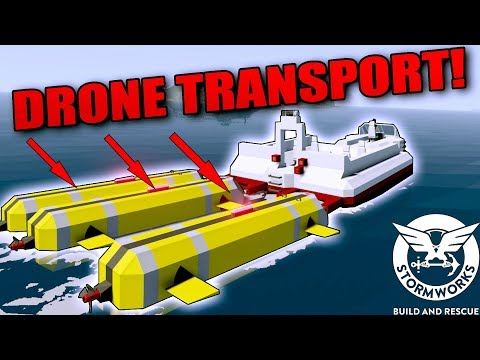 DRONE TRANSPORT + WORKSHOP CREATIONS! - Stormworks: Build and Rescue Gameplay Ep 5
