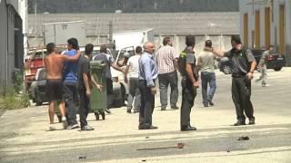 INCENDIO NAVE EN EL POLÍGONO DE  SAN CIBRAO