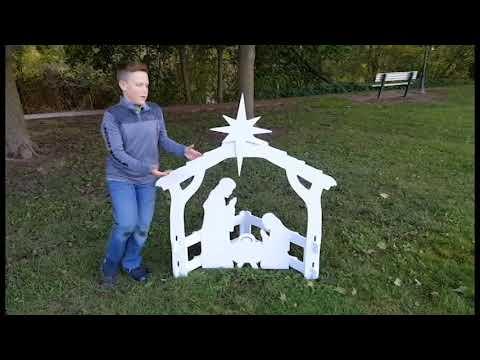 Front Yard Originals Medium Nativity Assembly Video