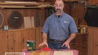 Woodworking Tips: Finishing - De-whiskering Wood
