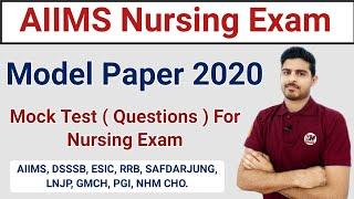 Staff Nurse Model Paper 2019